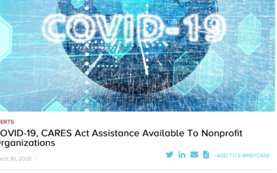 CARES Act: Paycheck Protection Program (PPP) Available To Nonprofit Organizations